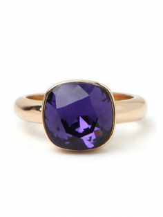 Amethyst Stack Ring - My birthstone I Love Jewelry, Jewelry Box, Jewelry Rings, Jewelery, Jewelry Accessories, Purple Jewelry, All Things Purple, Purple Stuff, My Birthstone