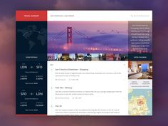 Travel summary TAGS: #ui #trip #timeline