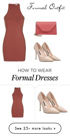 """""""Formal Outfit"""" by kinderlili on Polyvore featuring Topshop, Valextra, women's clothing, women's fashion, women, female, woman, misses and juniors"""