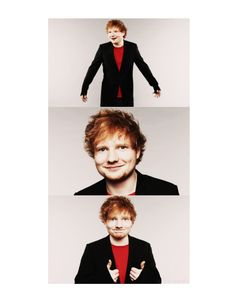 trio of photos of ed sheeran!