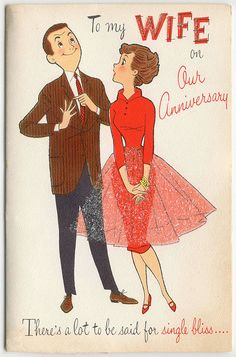 To my wife on our anniversary card. #vintage #illustrations #cards