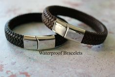 ALL weather LEATHER BRACELET Personalised Leather Bracelet