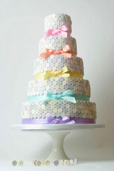 Conversation Heart Cake   we ❤ this!  moncheribridals.com  #weddingcake  #valentinesdaywedding