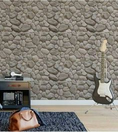 Use real stones for wall tiling.