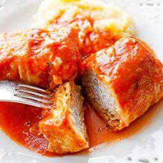 Gołąbki tradycyjne z ryżem i mięsem | Kwestia Smaku Meatloaf, French Toast, Breakfast, Recipes, Food, Ideas, Morning Coffee, Recipies, Essen