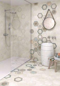 Arredare il bagno con le cementine - Piastrelle effetto cementine per il bagno - Tiles like cement tiles on bathroom