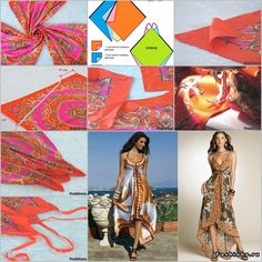Scarf dress  See more of handmade craft ideas here:  http://handmade4all.com/