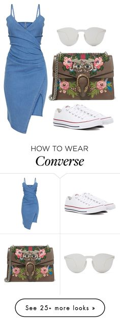 """""""Untitled #1403"""" by glara21 on Polyvore featuring Gucci, Illesteva and Converse"""