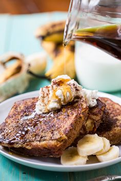 White Chocolate Banana Bread French Toast