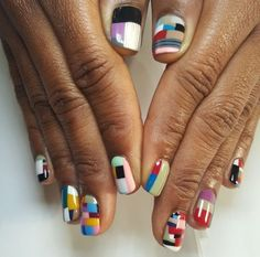 #naildesign #nailcolorful #colorfulsquares Chanel Monroe 💋 💯 follow me for more 😽