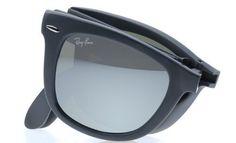 25ff664d6a Ray Ban RB4105 Fold Wayfarer Sunglasses-6022 30 Black (Gray Mirror Lens )-54mm