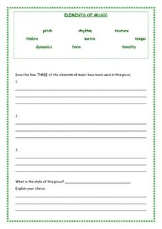 listening activity worksheet listening pinterest worksheets activities and music teachers. Black Bedroom Furniture Sets. Home Design Ideas