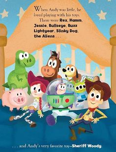 """Illustration for """"Toy Story 3"""" Little Golden Book by Adrian Molina."""