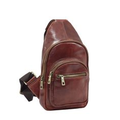 Rucsacuri: Rucsac din piele cu o curea de umar pentru barbati 8892A Sling Backpack, Fashion Backpack, Backpacks, Bags, Interior, Handbags, Indoor, Backpack, Interiors