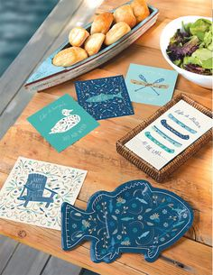 HAPPY PLACE PAPER TABLEWARE  by Design Design Design Design, Life Is Good, Nautical, Good Things, Paper, Tableware, Food, Navy Marine, Dinnerware