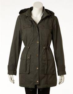 Long Anorak Jacket with Hood