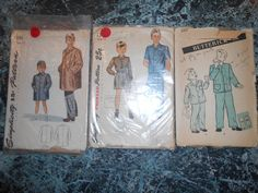 Simplicity printed  and Butterick Pattern by MinaLucinda on Etsy, $18.55