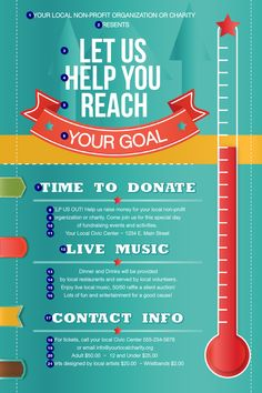 Fundraising Thermometer Poster | Ticket Printing