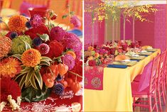 east indian colors | This look would be also be gorgeous for a bridal shower or milestone ...