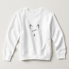 cat face silhouette sweatshirt - custom diy cyo personalize gift ideas