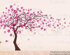 New Wand Aufkleber Baum Kinder baby Aufkleber M dchen von PopDecors