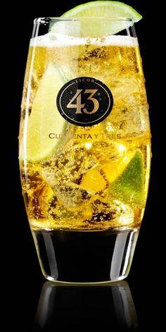 30 ml Licor 43 Flesje Spaans bier (San Miguel) 2 schijfjes limoen