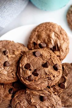 Chocolate Chocolate Chip Cookies - Southern Plate Mint Chocolate Chip Cookies, Melting Chocolate Chips, Chocolate Toffee, Semi Sweet Chocolate Chips, Cooking Cookies, No Bake Cookies, Potato Chip Cookies, No Bake Bars, Perfect Cookie