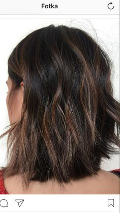 awesome 65 Phenomenal Dark Hair with Highlights - Flattering Streaks for Your Dark Mane Dark Hair With Lowlights, Hair Highlights And Lowlights, Short Dark Brown Hair With Caramel Highlights, Dark Curly Hair, Short Brown Hair, Black Hair, Low Lights Hair, Brown Hair Colors, Balayage Hair