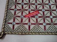 Needlepoint, Cross Stitch Patterns, Shoulder Bag, Beads, Handmade, Sequins, Punto De Cruz, Tutorials, Dots