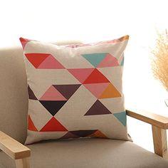 YKA Fashion Pillow Covers Geometric Patterns Decorative Cushion Cover Cotton…