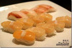 Scallop sushi in Miraku Japanese Buffet Review