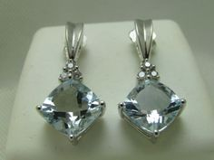 4-8-Ct-Cushion-Cut-Aquamarine-Diamond-Earrings-14k-Solid-Gold