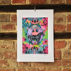 'Broken Horse' by Laura Oakes, available as an A4 print from www.lauraoakes.co.uk soon!