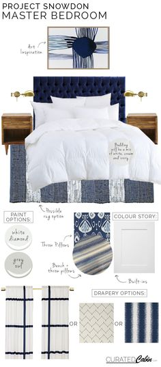 House interior: master bedroom; colors