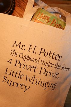 Hey, I found this really awesome Etsy listing at http://www.etsy.com/listing/104064676/harry-potter-tote-bag-4-privet-drive