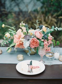 Rustic ranunculus, peony and succulents: Photography: Sposto Photography - www.spostophotography.com Read More on SMP: http://www.stylemepretty.com/2016/10/28//
