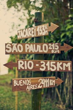 Sweet Beach Wedding ⋆ Ruffled signs for wedding to show where guest are coming from! Carnival Decorations, Carnival Themes, Carnival Wedding, Rio Carnival, Brazil Party, Rio Party, Tropical Wedding Reception, Brazilian Wedding, South America Destinations