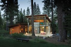 sheri koones features energy-efficient + sustainable homes in prefabulous world ('martis camp cabin' is a modular home in truckee, california)