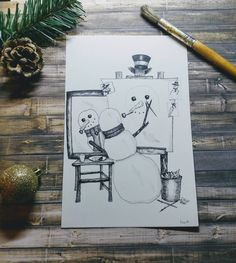 Items similar to Funny Christmas Cards -sets- Norman Rockwell inspired, a Snowman self-portrait- Greeting Card on Etsy Funny Greeting Cards, Holiday Greeting Cards, Norman Rockwell Self Portrait, Snowman Cards, Funny Christmas Cards, Card Reading, Paper Goods, Happy Holidays, Etsy Seller