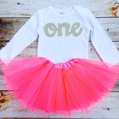 Watermelon tutu with long sleeve gold glitter one onesie- girls 1st Birthday outfit Christmas- girls first birthday outfit