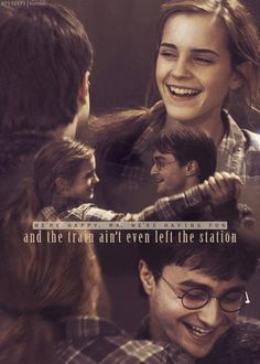 When I first started reading the books,I thought Hermione and Harry would end up together as boyfriend and girlfriend in the end. Harry Potter Tumblr, Harry Potter Cast, Harry Potter Fan Art, Harry Potter Quotes, Harry Potter Characters, Harry Potter Universal, Harry Potter Fandom, Harry Potter World, Harry Potter Hermione