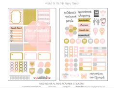 "Hello peeps!  So, this is my first official freebie printable for the new year!   Today, I am excited to release another newly sized ""freebie"" printable that I designed with ""planner stickers""  that will fit my newly purchased Mini Happy Planner.  This is such a great, portable planner size.  I'm still trying to decide what type … Continue reading Mini Happy Planner – Mod Neutral Planner Stickers →"
