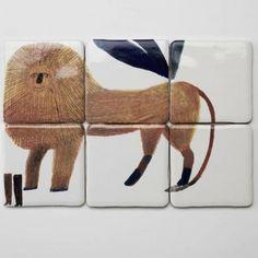 TILES // http://www.remodelista.com/products/lion-tiles