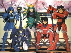 Ronin Warriors/Yoroiden Samurai Troopers -the show that started the anime interest Manga Anime, Art Anime, Manga Art, Ronin Samurai, Samurai Armor, Anime Comics, Gi Joe, Samurai Warriors Anime, Sailor Moon Episodes