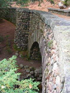 Cobblestone Bridge, Acadia, Maine. My great grandfather built some of these bridges in Acadia National Park, i wonder if this could have been one?
