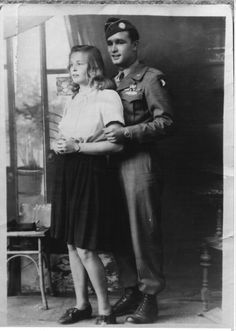Gordon Carson and wife Antonia after being married in Kaprun, Austria. They met in Austria, where Antonia had spent more than three years in a concentration camp, after being caught after curfew at 10PM by 5 minutes at 10:05PM by the Nazi SS. After a brief courtship, Gordon and Toni parted and Gordon prepared to go home. However, after finding out Toni was pregnant he returned to Austria and proposed.