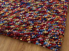 The Pebbles Rug Multi with Free Delivery to Mainland UK. The Pebbles Multi Rug is a handwoven, felted wool rug in an attractive mixture of various colours Wool Rug, Wool Felt, True Colors, Colours, Rugs Online, Hand Weaving, Design Inspiration, Street, House