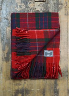 Classic Wool Knee Blanket in Fraser Red Tartan  | The Tartan Blanket Co.