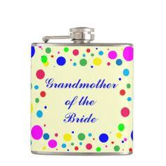Grandmother of the Bride Party Colors Wedding Hip Flasks