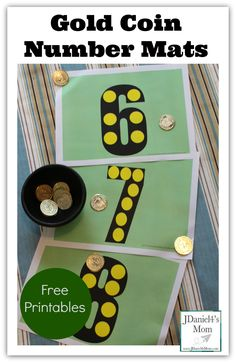 Fun! Gold coin number mats. Great for a little number practice on St. Patrick's Day.
